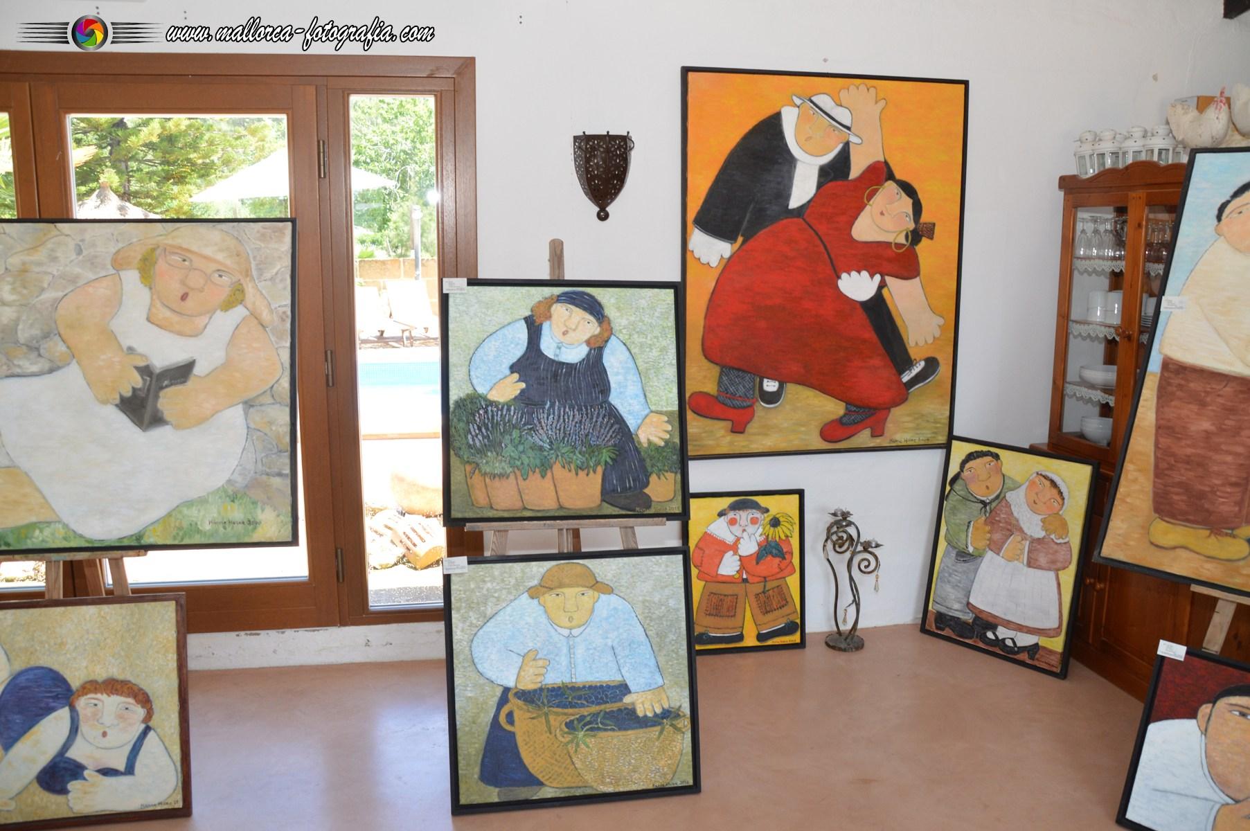 Ausstellungsräumlichkeiten von HANNE HOLZE Mallorca