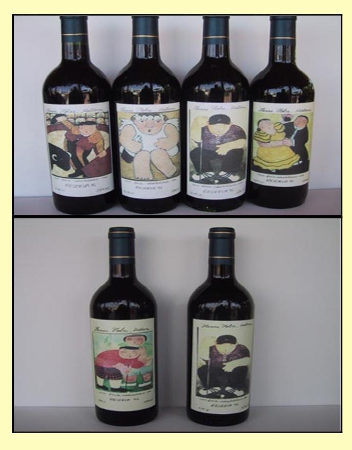 Etiketten für Weinflaschen