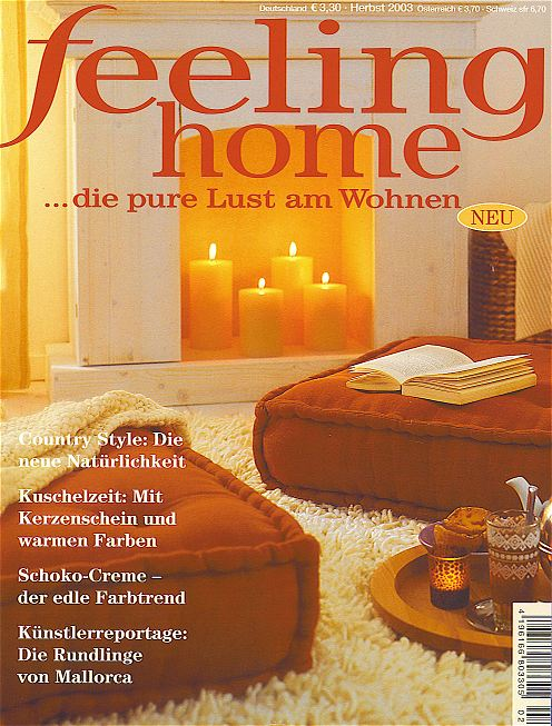 feeling home - Herbst 2003 - Titelbild